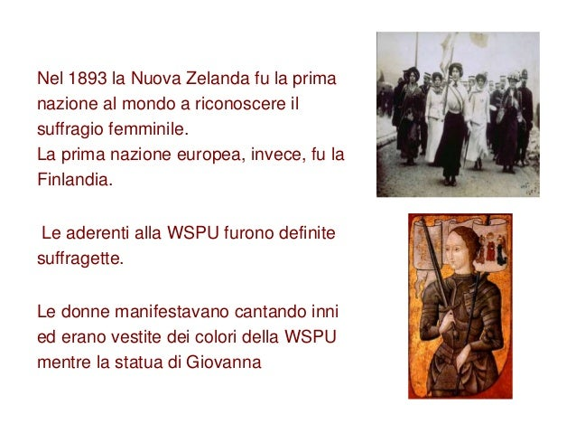 Nel 1893 la Nuova Zelanda fu la prima nazione al mondo a riconoscere il suffragio femminile. La prima nazione europea, inv...
