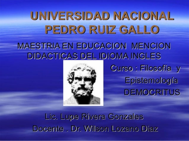 UNIVERSIDAD NACIONAL    PEDRO RUIZ GALLOMAESTRIA EN EDUCACION MENCION DIDACTICAS DEL IDIOMA INGLES                   Curso...