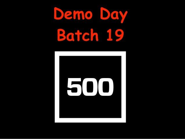 Demo Day Batch 19
