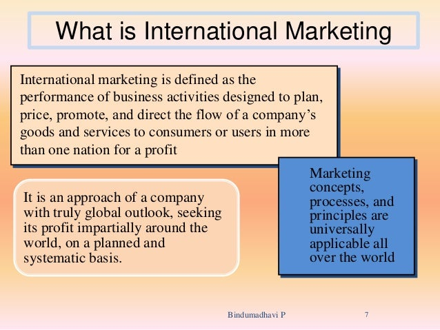 what is international marketing International marketing objectives: the objective of this course is to introduce the student to marketing strategy planning for international markets.