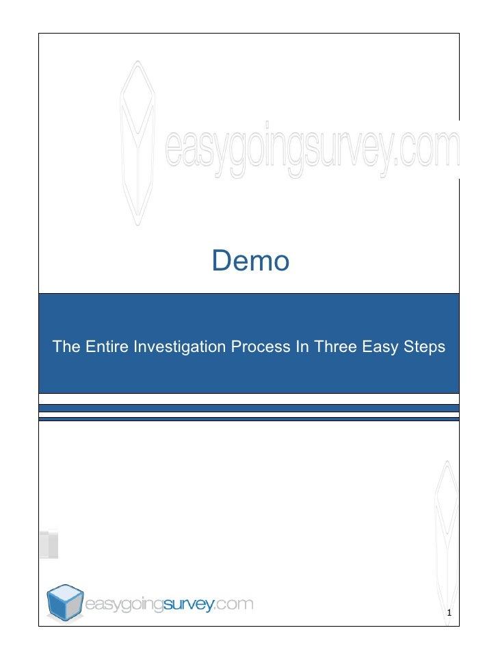 Demo The Entire Investigation Process In Three Easy Steps