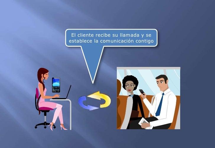 El cliente recibe su llamada y se establece la comunicación contigo<br />