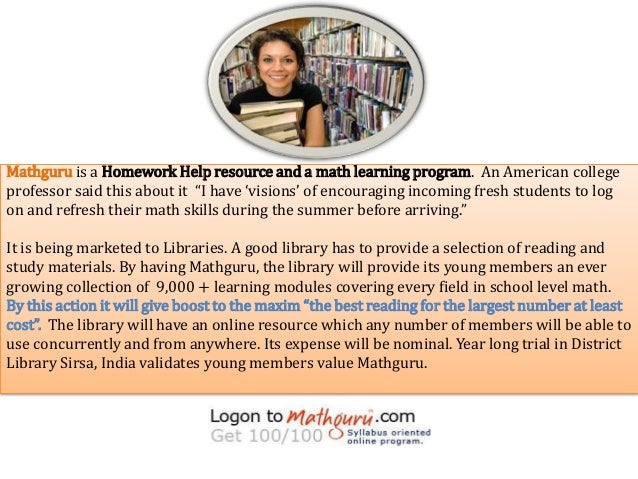 """Mathguru is a Homework Help resource and a math learning program. An American collegeprofessor said this about it """"I have ..."""