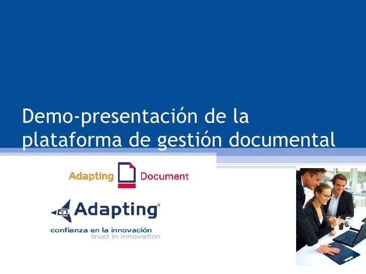 Demo-presentación de la plataforma de gestión documental