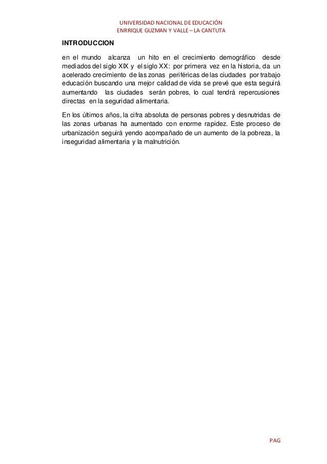 UNIVERSIDAD NACIONAL DE EDUCACIÓN ENRRIQUE GUZMAN Y VALLE – LA CANTUTA PAG INTRODUCCION en el mundo alcanza un hito en el ...
