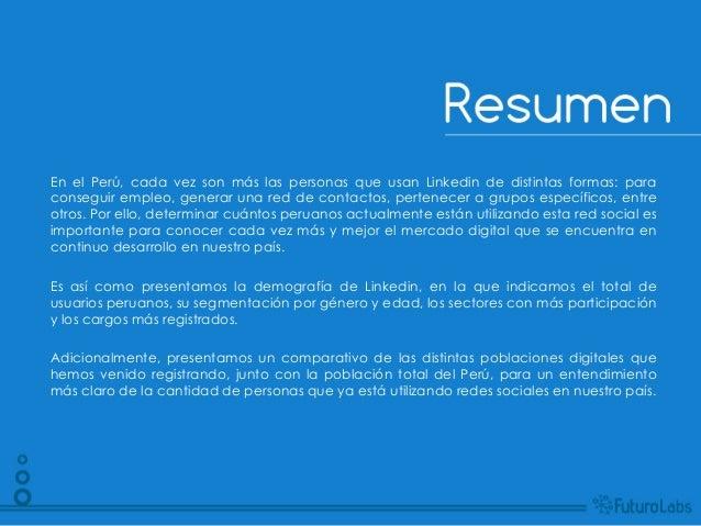 En el Perú, cada vez son más las personas que usan Linkedin de distintas formas: paraconseguir empleo, generar una red de ...