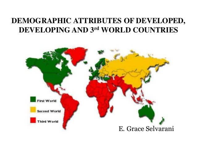 Demographic attributes of developed, developing and 3rd world countri…