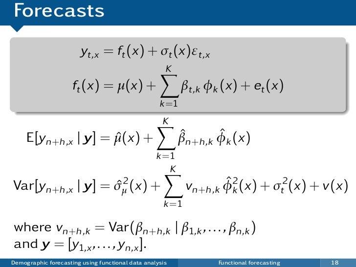 Forecasts                       yt,x = ft (x) + σt (x)εt,x                                                     K          ...