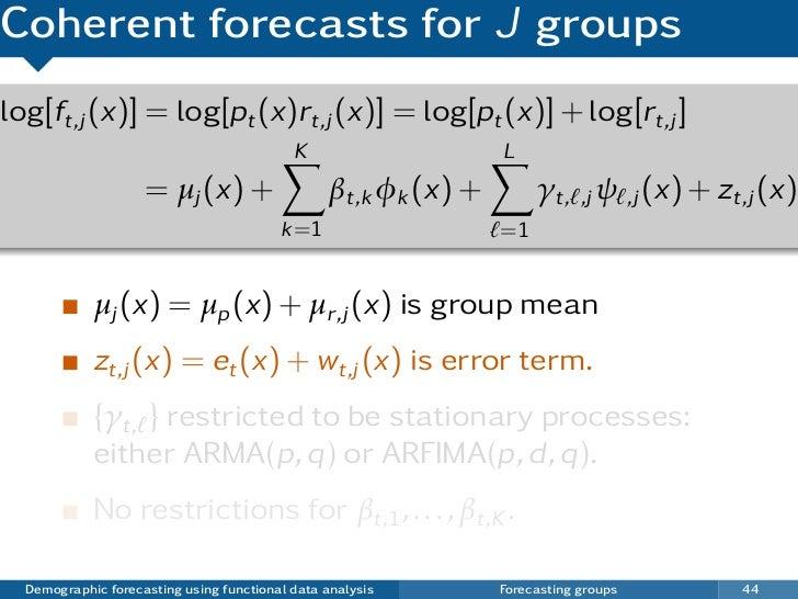 Demographic forecasting