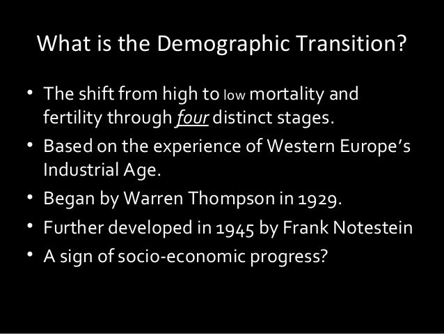 describe the four stages of the demographic transition