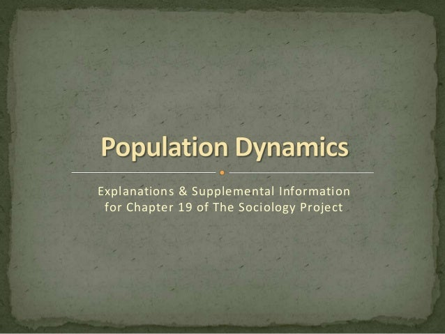 Explanations & Supplemental Information for Chapter 19 of The Sociology Project