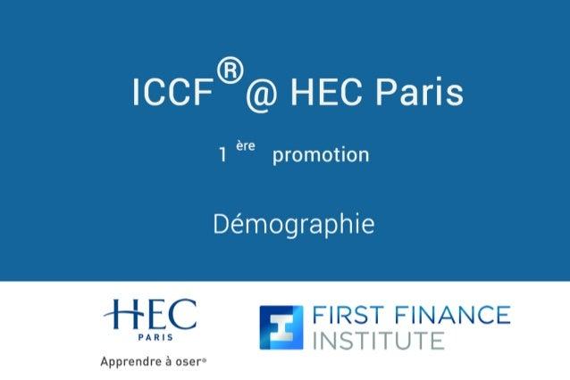Démographie ICCF @ HEC Paris ® 1 promotion ère