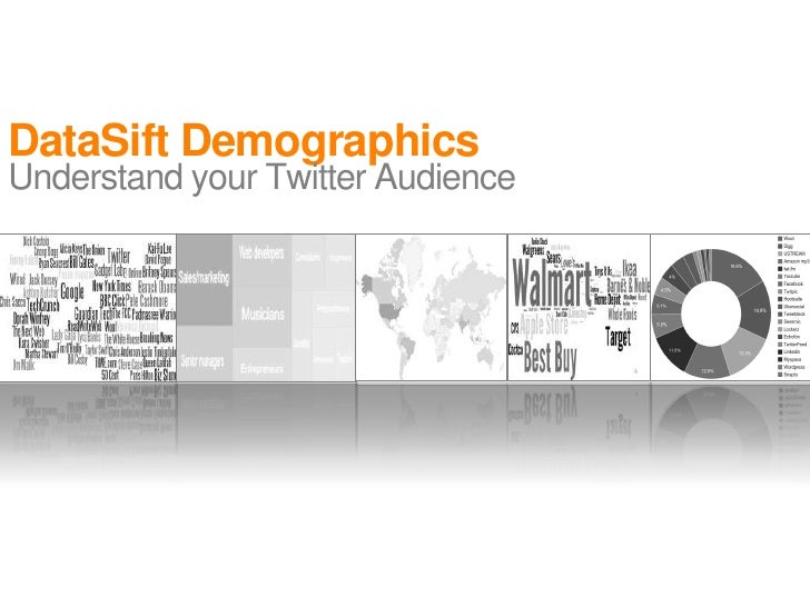 DataSift DemographicsUnderstand your Twitter Audience