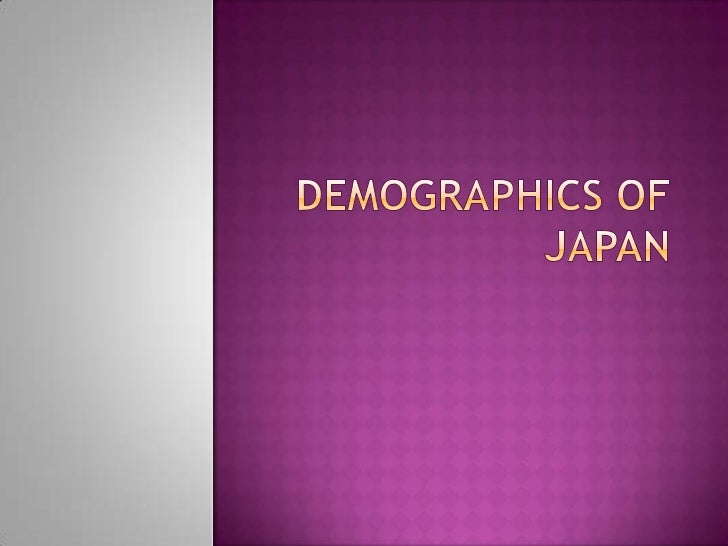 Demographics of Japan<br />