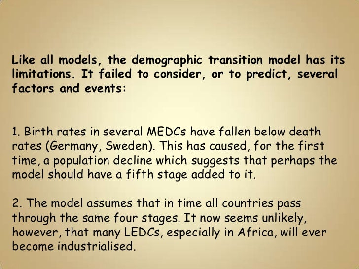 4 stages of demographic transition
