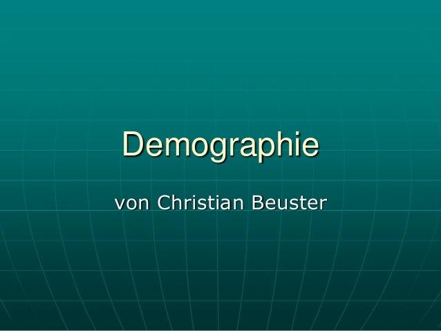 Demographievon Christian Beuster