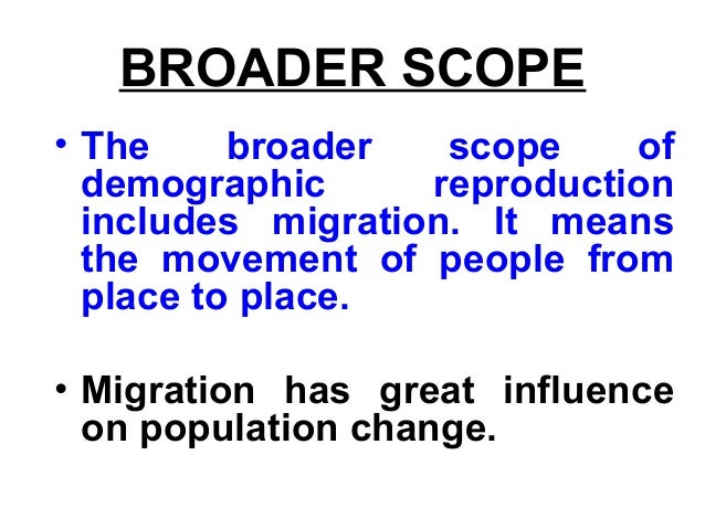 demography concept and scope