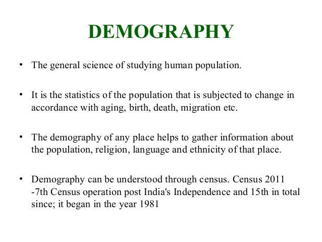 Demography of india Slide 2