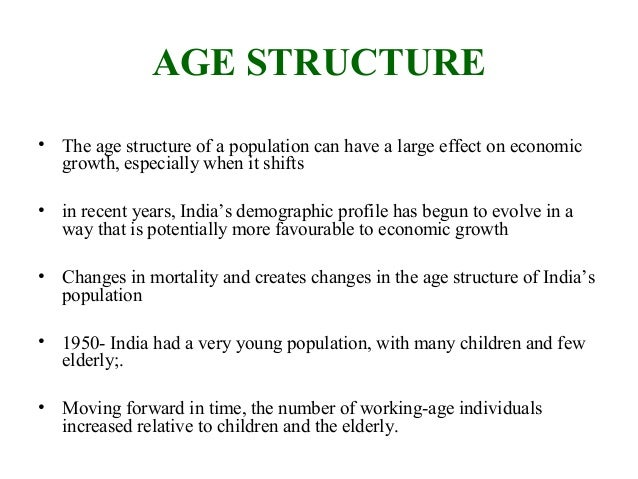 age structure of india