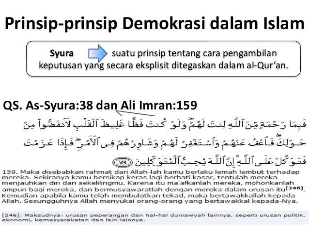 Demokrasi Dalam Ajaran Islam
