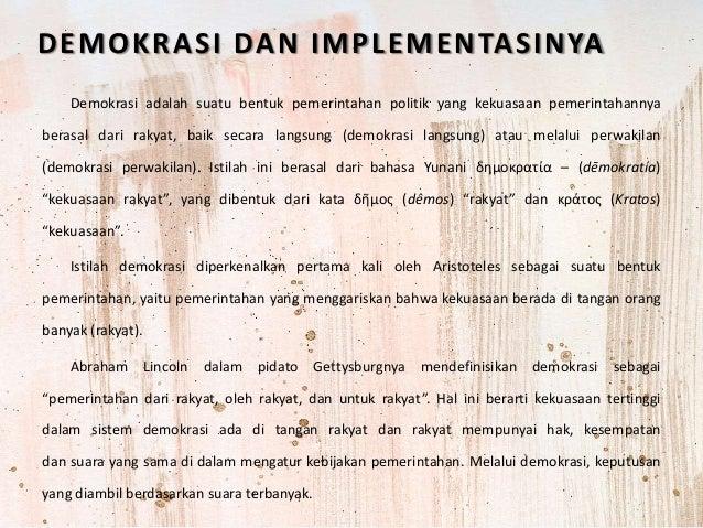 Demokrasi Dan Implementasi