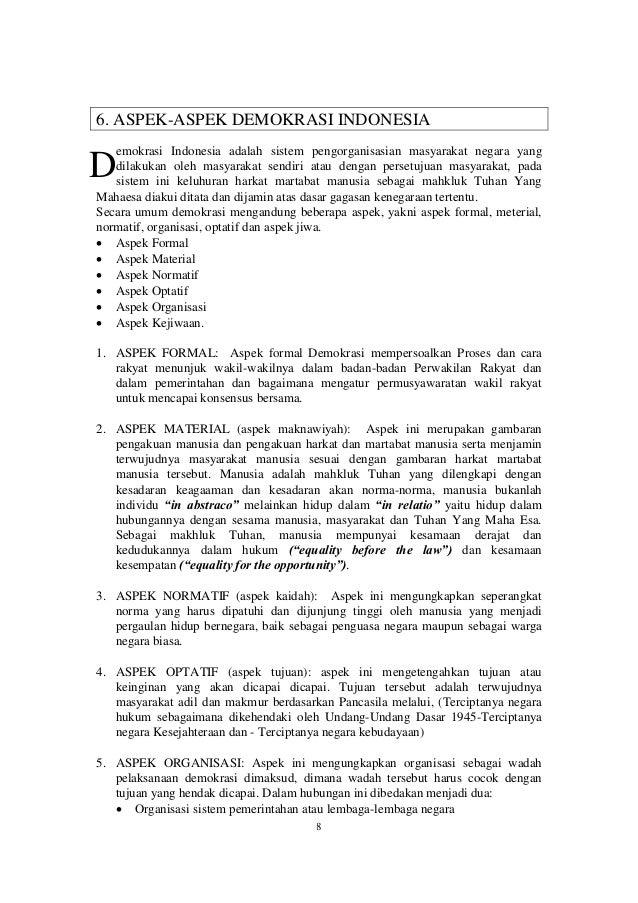 resume demokrasi dan kekecewaan ajaran hatta tentang partai islam