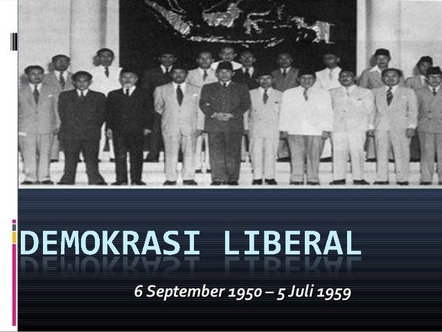 Latar Belakang Diberlakukan Demokrasi Liberal Di Indonesia Adalah