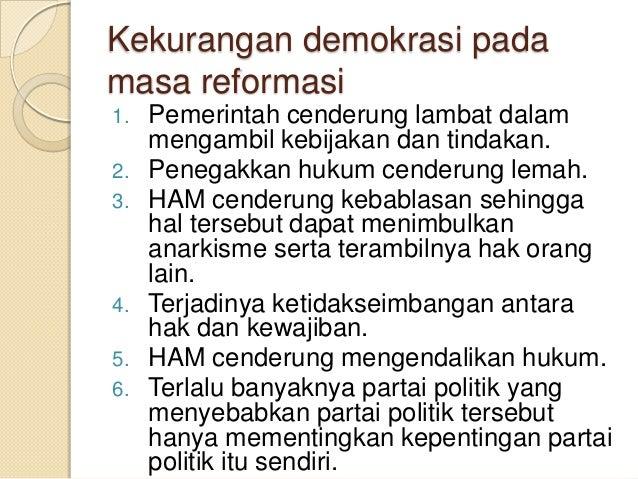 Demokrasi Pada Masa Reformasi