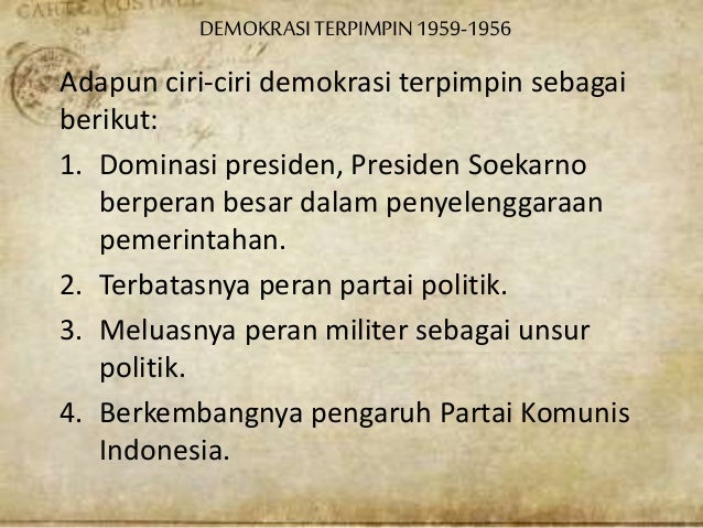 Demokrasi Terpimpin 1959 1966