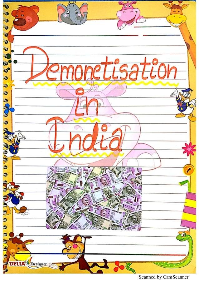 Demonetisation Economics Project Class 12 CBSE