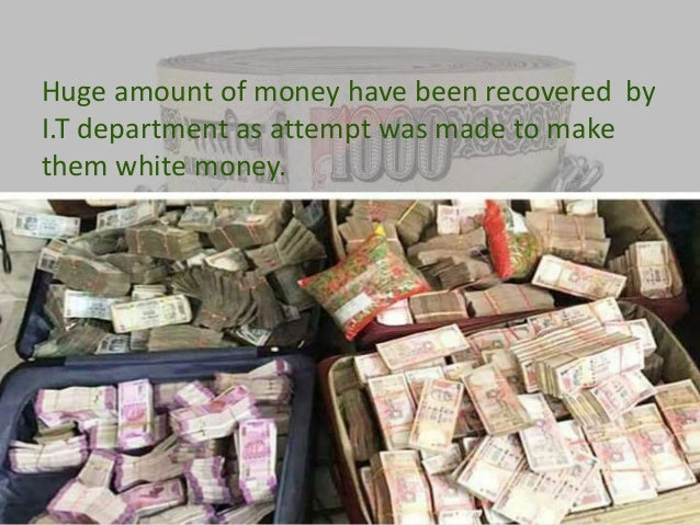 Demonetisation and its effect on the black economy