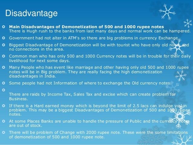 demonetization essay in english