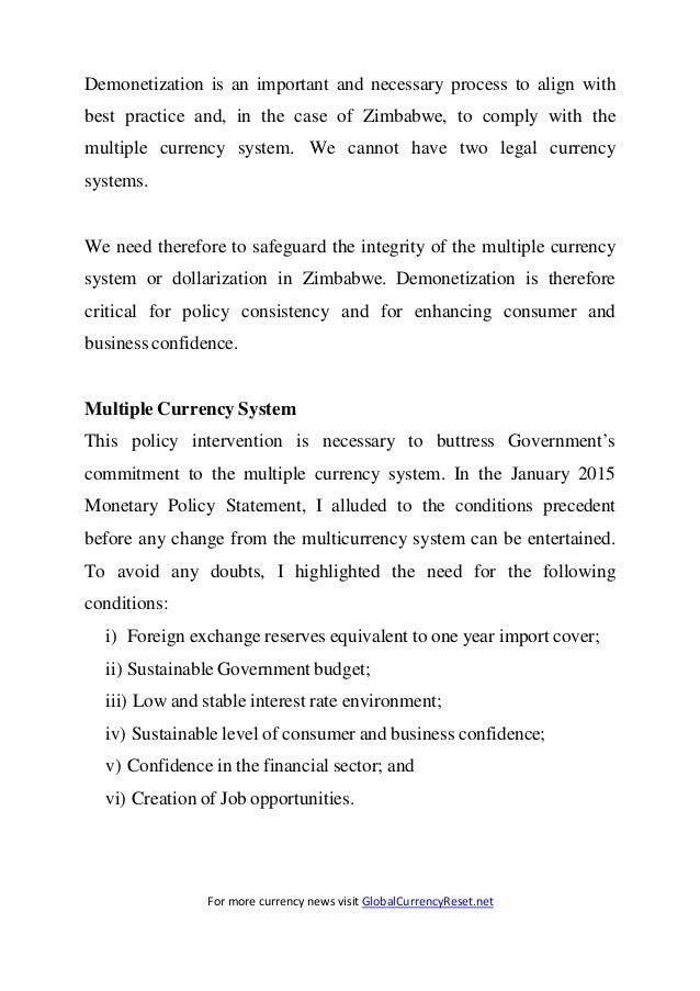 Demonetization Of Zimbabwe Dollar To USD - Reserve Bank of Zimbabwe Press Release Slide 3