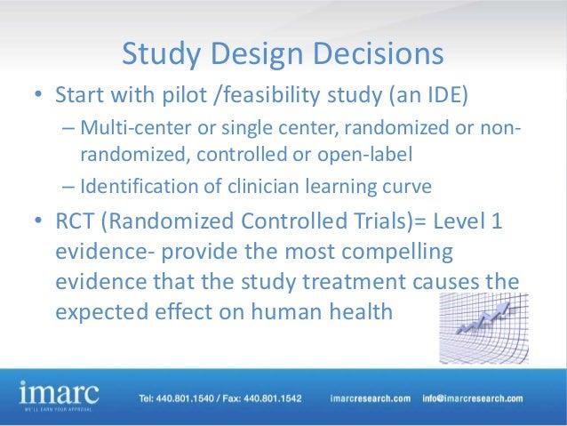 Open label pilot study