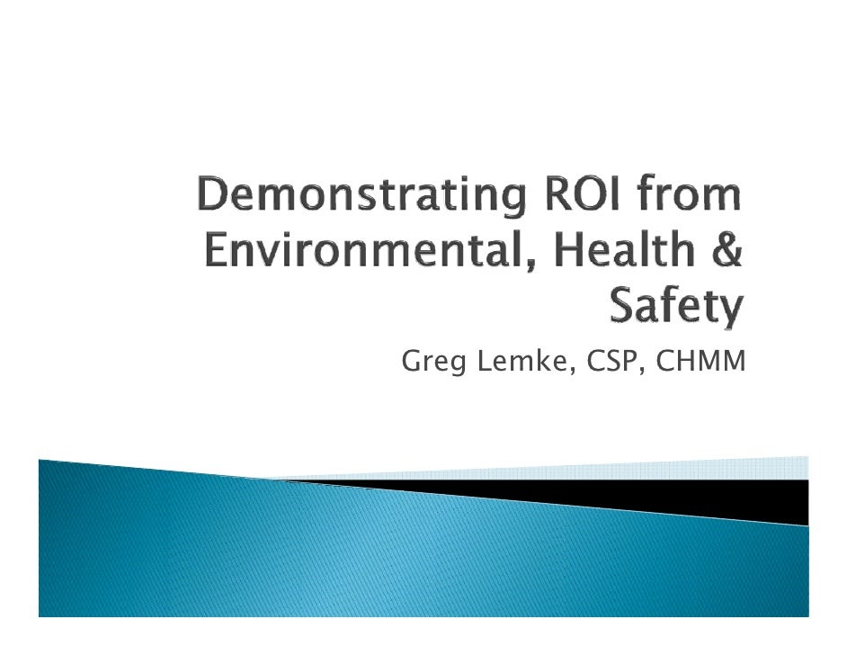 Greg Lemke, CSP, CHMM