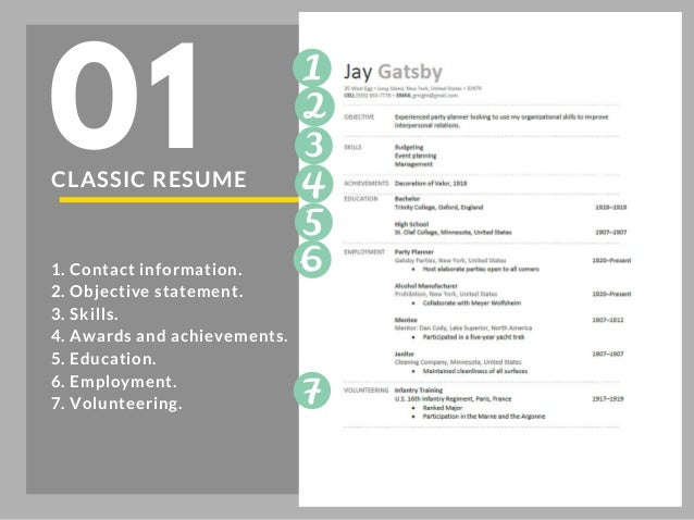 CASE STUDY: RESUME SECTIONS; 2.  Resume Sections