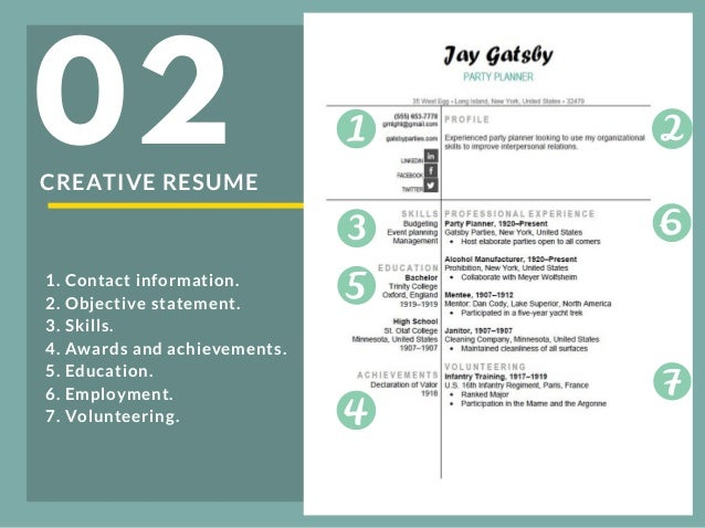 01 3 creative resume 02 1 contact information