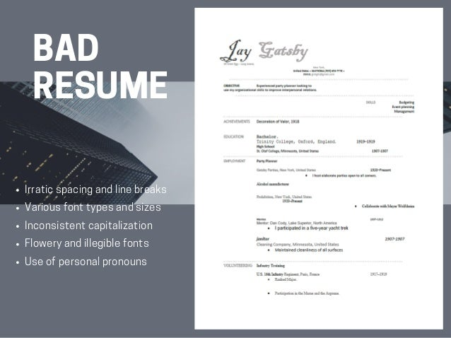 SlideShare  What Should A Good Resume Look Like