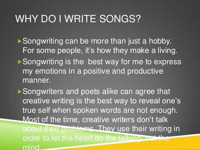 we write a song