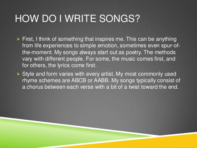 Songwriting essay business