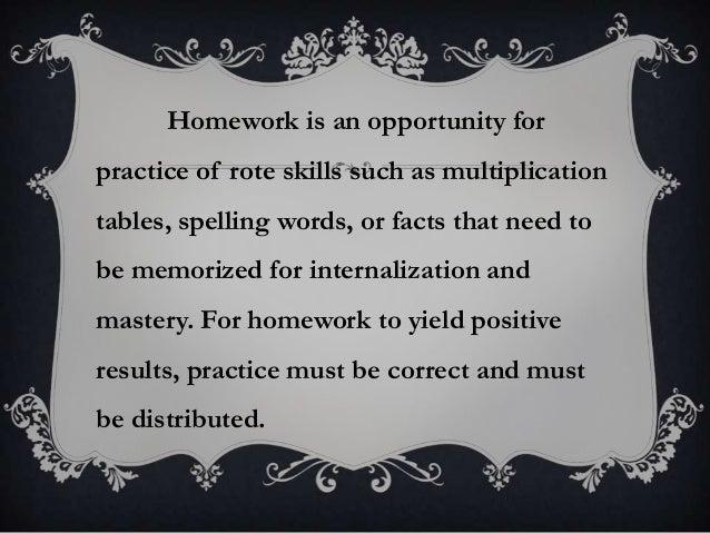About Homework