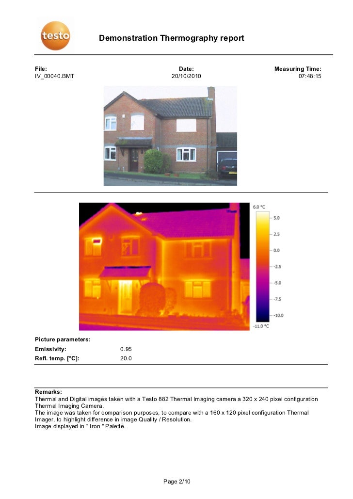 Demonstration thermography report comparison between 320 x for Ecksofa 240 x 160