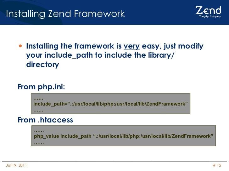 Zend Framework Introduction