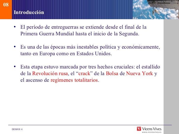 Demos El período de entreguerras. Cuarto ESO.
