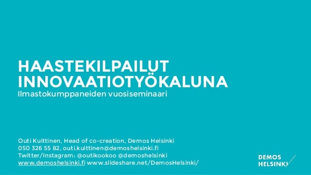 Outi Kuittinen, Head of co-creation, Demos Helsinki