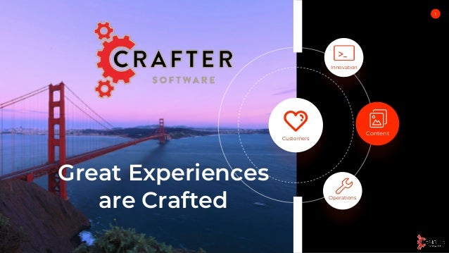 Great Experiences are Crafted 1 Innovation Content Operations Customers