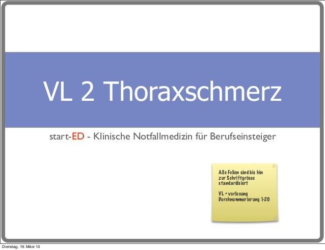 VL 2 Thoraxschmerz                        start-ED - Klinische Notfallmedizin für Berufseinsteiger                        ...