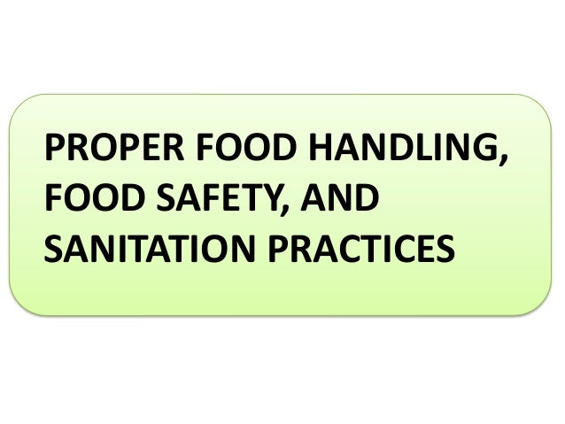 food safety sanitation We regulate, inspect and give technical guidance to major food industries in  colorado, and tell consumers about food, drug and cosmetic recalls we also.