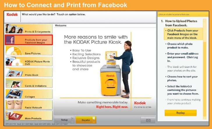 How to Print from Facebook at a KODAK Picture Kiosk