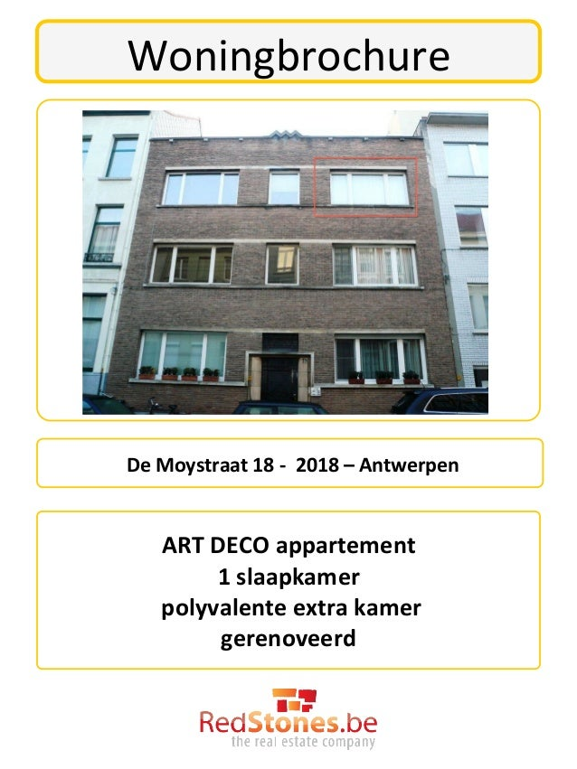 Woningbrochure  De Moystraat 18 -‐  2018 – Antwerpen                                       ART ...